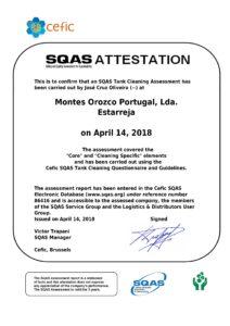 Certificado SQAS Montes Orozco