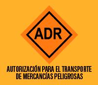 autorización para el transporte de mercancías peligrosas ADR